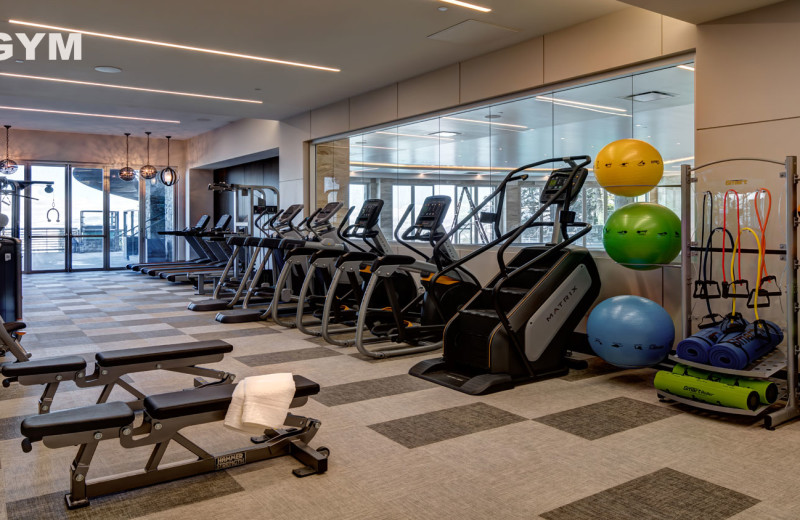 Gym at Stein Eriksen Residences.