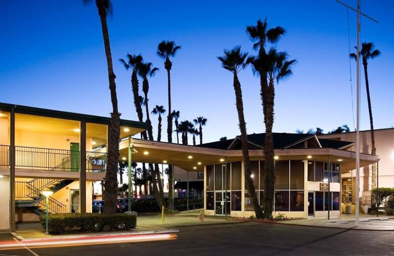 Exterior view of Seaport Marina Hotel.