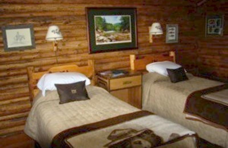 Interior of Cabin at Moose Head Ranch