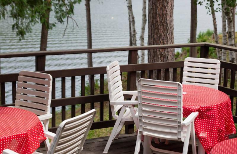 Patio at Mattawa River Resort.