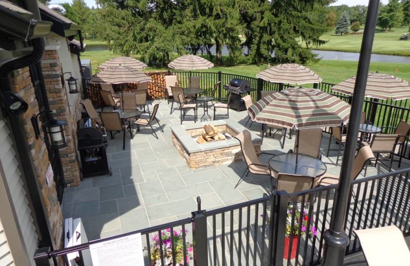 Patio at Fairway Suites At Peek'n Peak Resort.