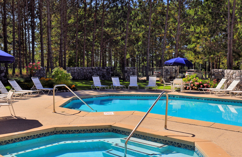 Outdoor pool at Trout Creek Vacation Condominiums.