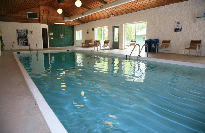 Indoor pool at Bay Point on the Lake.