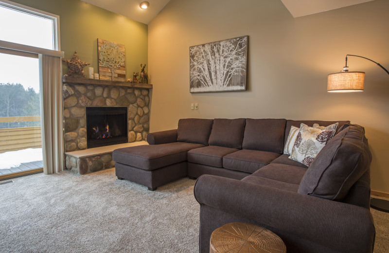 Living room at Trout Creek Condominiums.