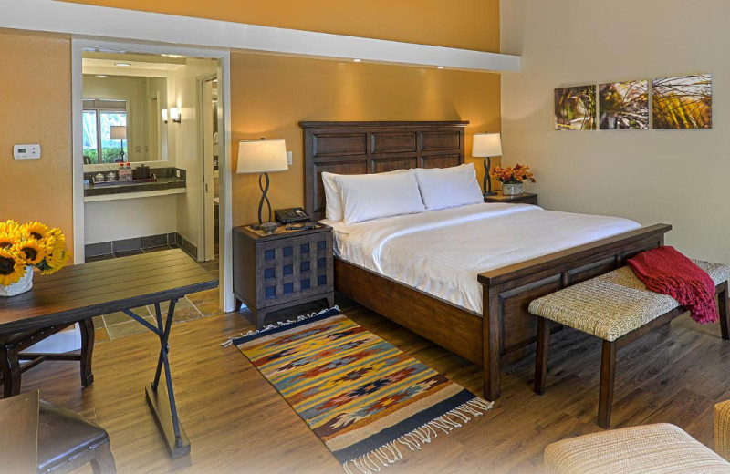 Guest room at Quail Lodge Resort.