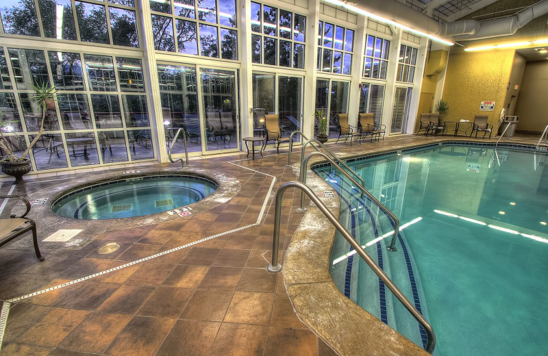 Indoor pool at RiverStone Resort & Spa.