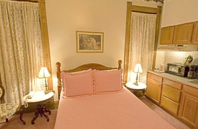 Guest bedroom at Grand Central Hotel.