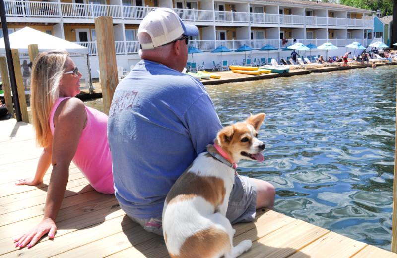 Pets welcome at Naswa Resort.