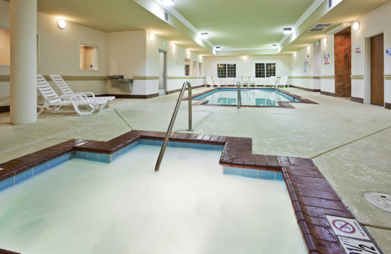 Indoor pool at Holiday Inn Express Hotel & Suites Klamath Falls.