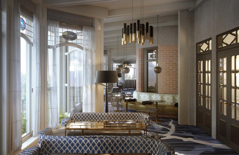Lounge at Fairmont Le Chateau Frontenac.