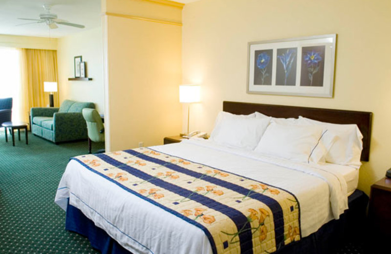 Guest room at SpringHill Suites Pensacola Beach-Marriott.