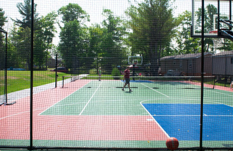 Tennis court at Great Blue Resorts- Lantern Bay Resort.