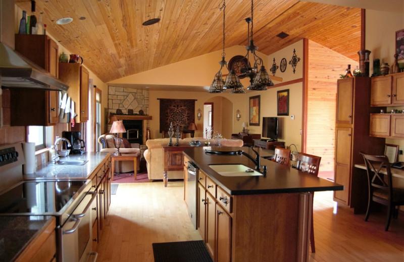 Cottage interior at Harvest Moon Cottages.