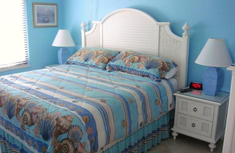 Guest bedroom at Seaside An All-Suite Resort.