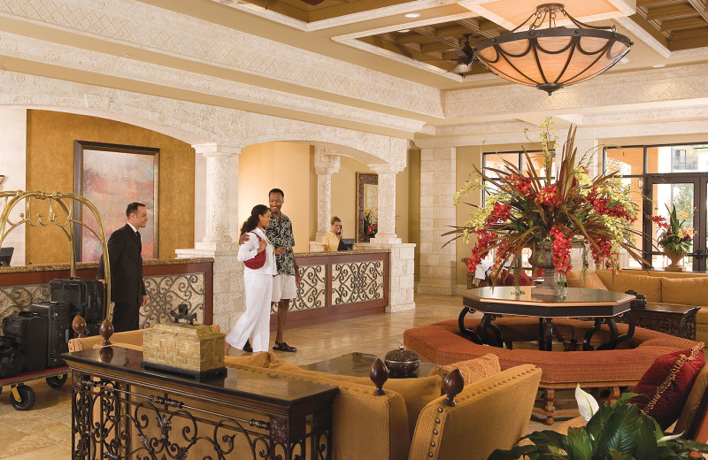 The lobby at Floridays Resort Orlando.