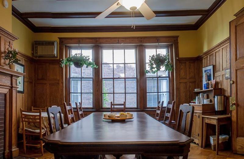 Dinning room at Adams Inn.