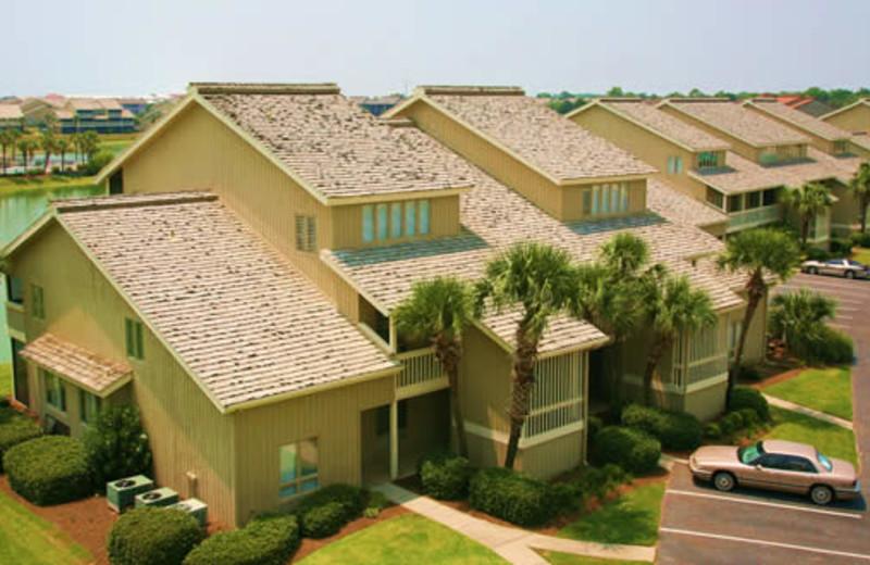 Vacation rentals view at Seascape Resort.