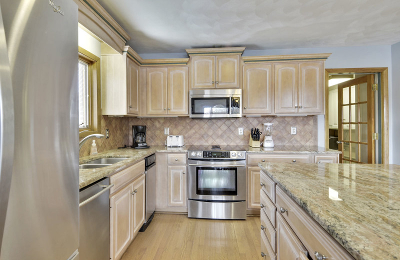 Rental kitchen at Premier Vacation Rentals @ Smith Mountain Lake.