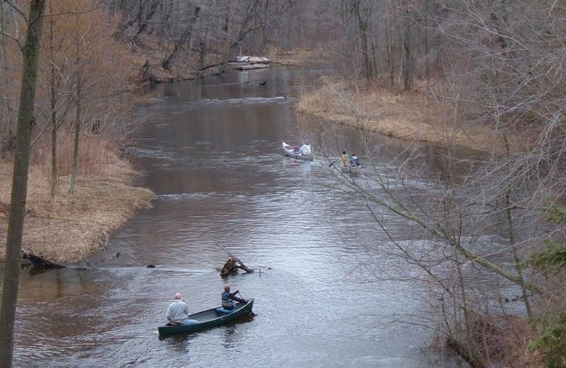 River at Riverbend Retreat Resort Lodge & Cottages.