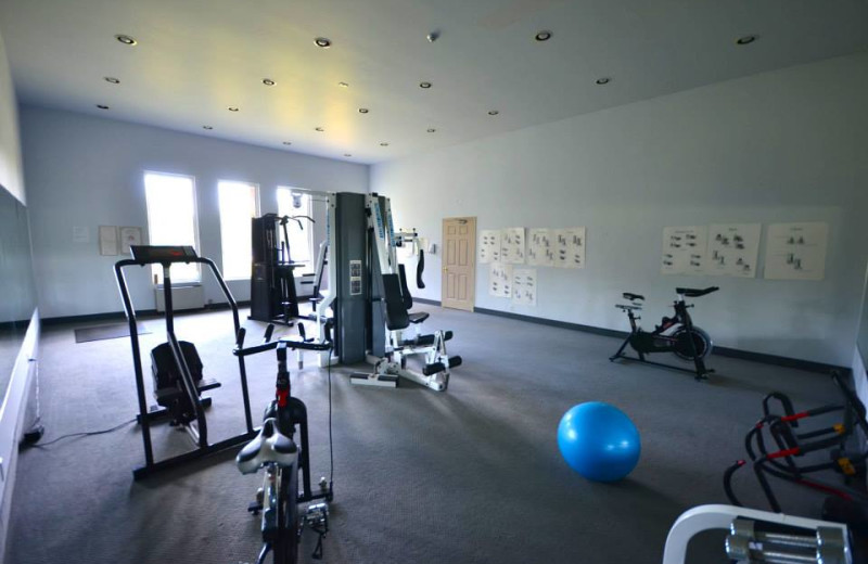Fitness room at Grand Tappattoo Resort.