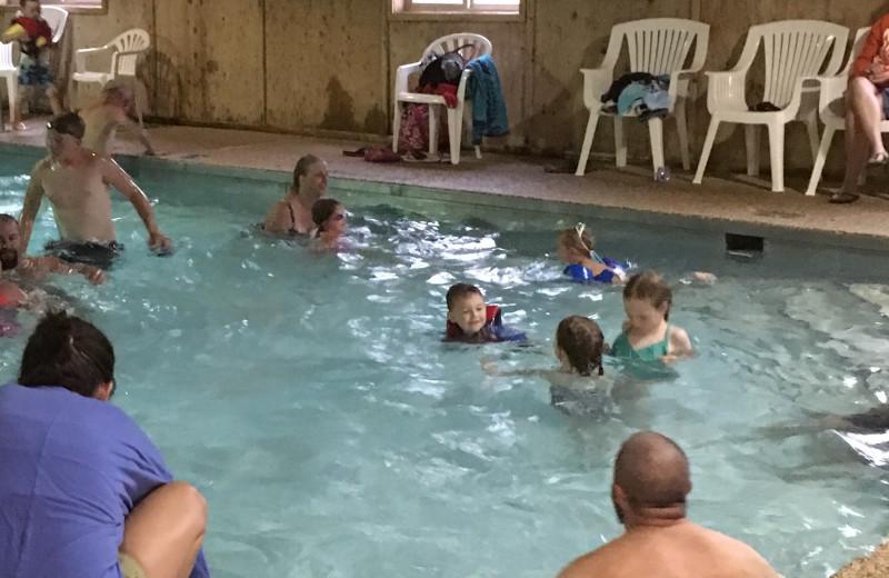 Indoor pool at Sullivans Resort & Campground
