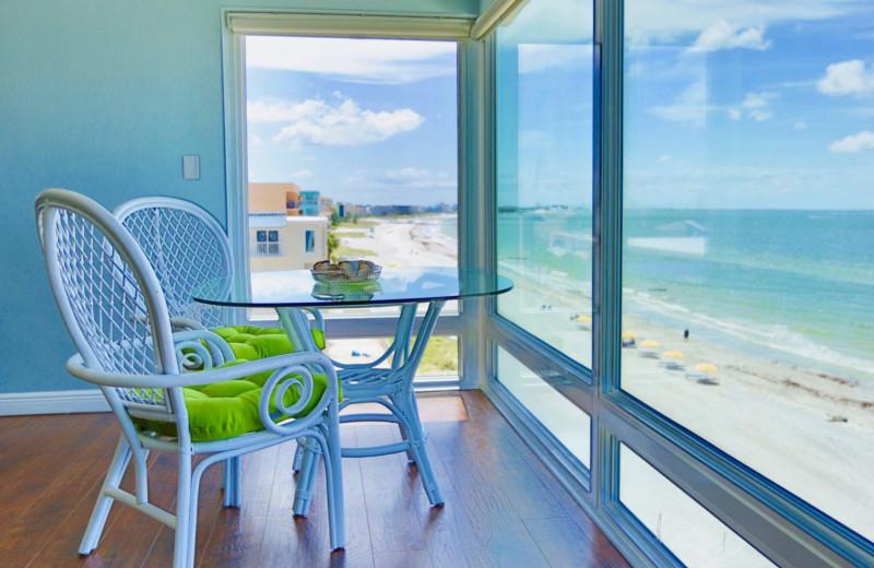 Guest room view at Shoreline Island Resort.