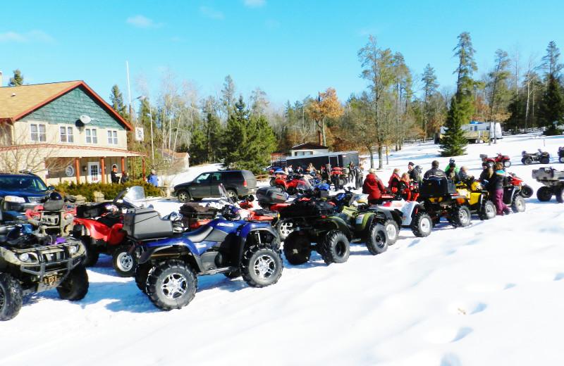 ATV at Schatzi's 4 Seasons Resort.