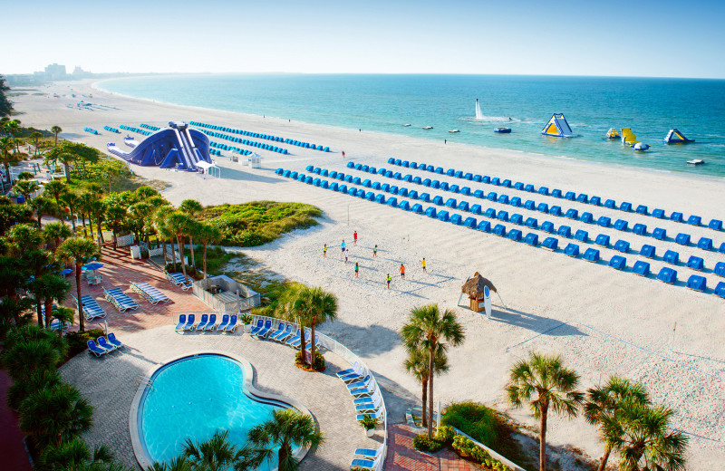 Beautiful views of the beach during your stay at TradeWinds Island Grand.