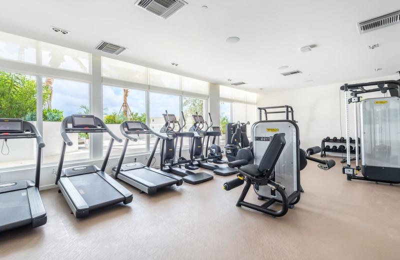 Rental fitness room at Walker Vacation Rentals.