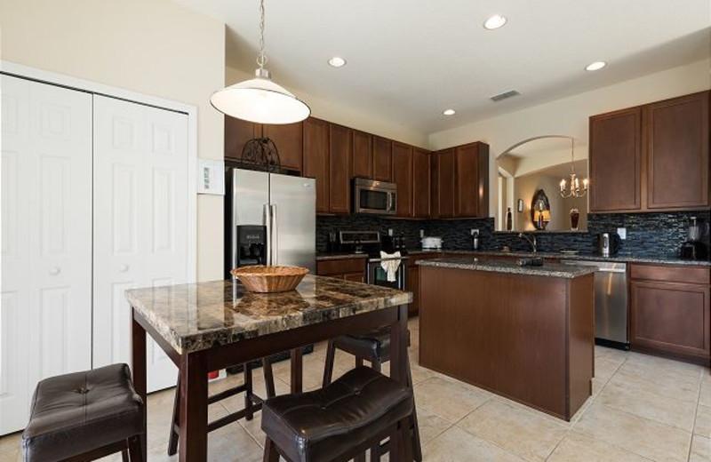 Rental kitchen at Luxury Reunion Rentals.
