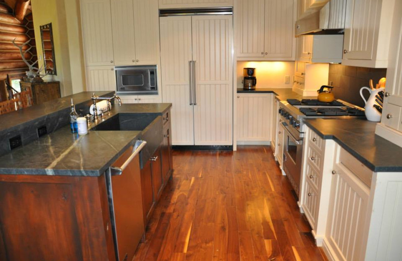 Vacation rental kitchen at SilverStar Luxury Properties.