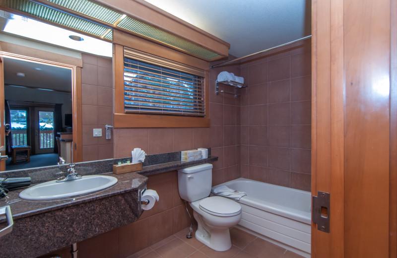 Guest bathroom at Hidden Ridge Resort.