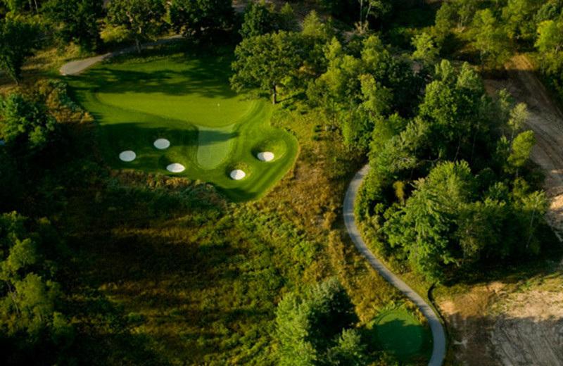 Aerial view of golf course at Tullymore Golf Resort.