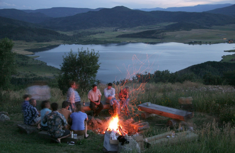 Bonfire at The Bella Vista Estate.