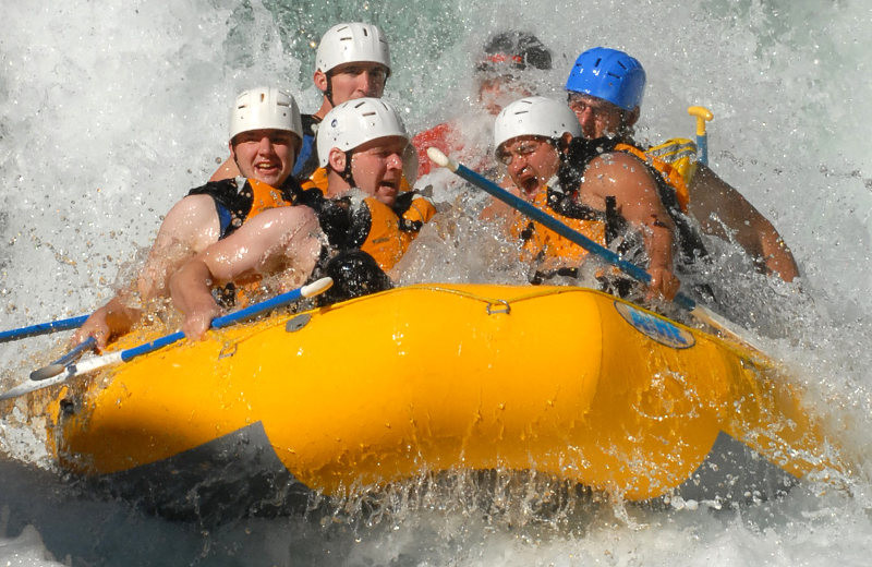 River rafting at Lost Creek Guest Ranch.