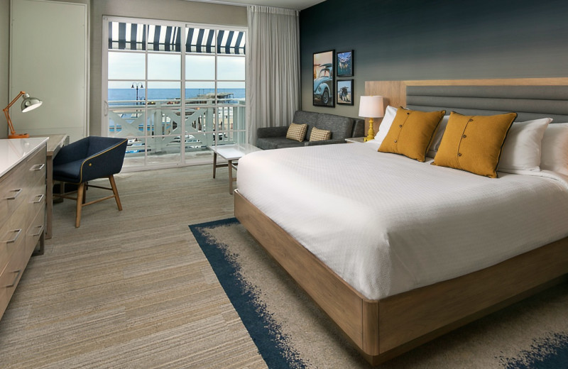 Guest room at Inn at the Pier.