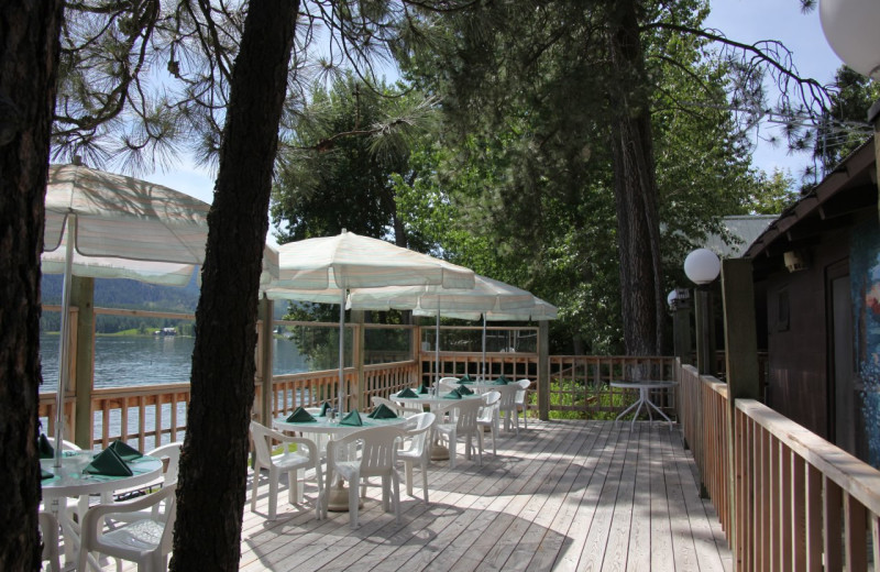 Patio dining at Silver Beach Resort.