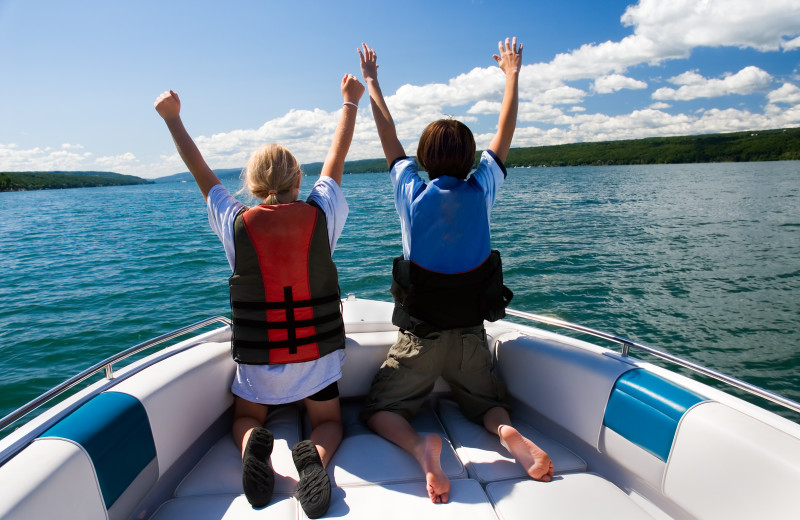 Boating at Big Chief RV Resort.