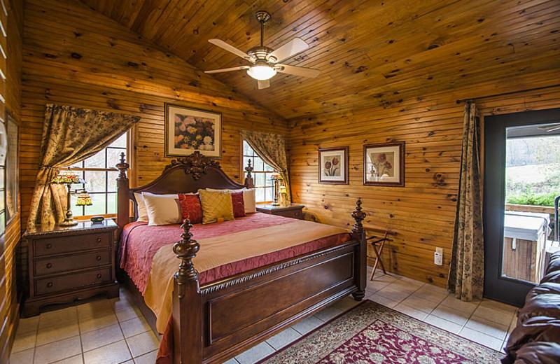 Cottage bedroom at Steele's Tavern Manor B&B.