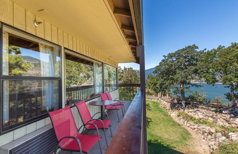 Balcony at Westcliff Lodge.