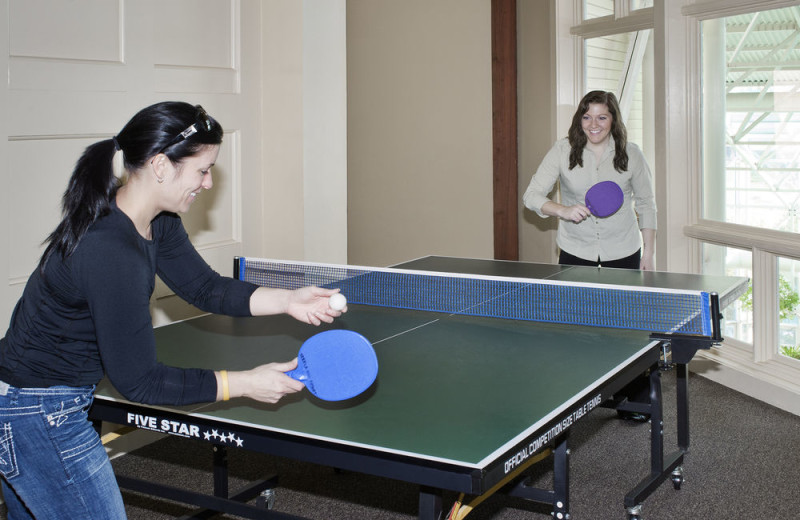 Ping pong at Steele Hill Resorts.