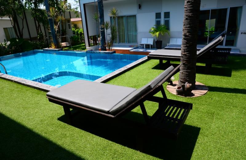 Outdoor pool at Foresta Resort.