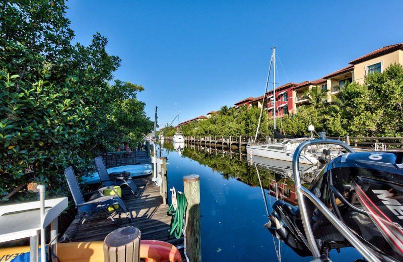 Rental dock at Naples Florida Vacation Homes.