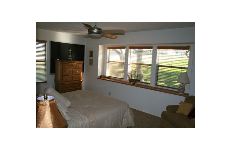 Rental bedroom at Oak House On Lake LBJ.