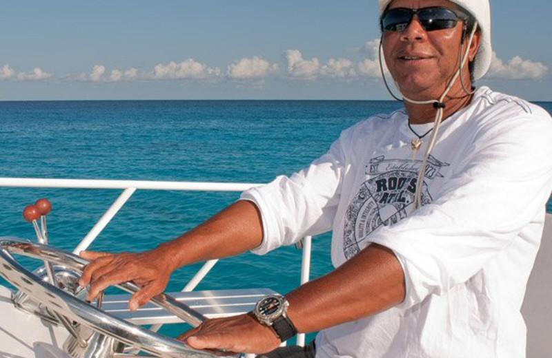Boating at Riding Rock Inn.