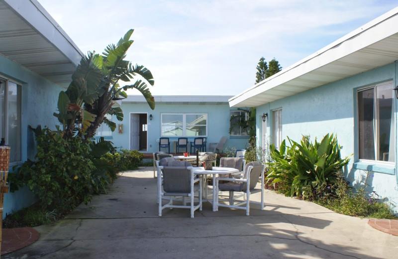 Patio at Daytona Shores Inn and Suites.