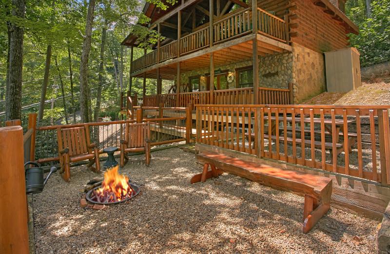 Rental exterior at Aunt Bug's Cabin Rentals, LLC.