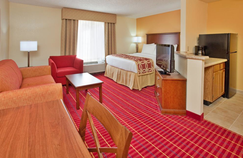 Guest room at TownePlace Suites Tempe.