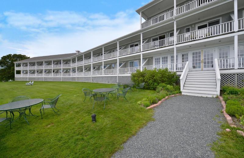 Exterior view of Bar Harbor Inn & Spa.