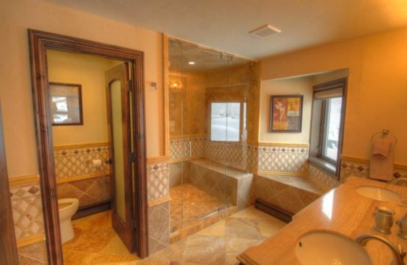 Vacation rental bathroom at SkyRun Vacation Rentals - Vail, Colorado.